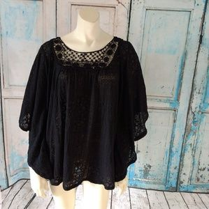 Plus size 3x top French Laundry black flowy